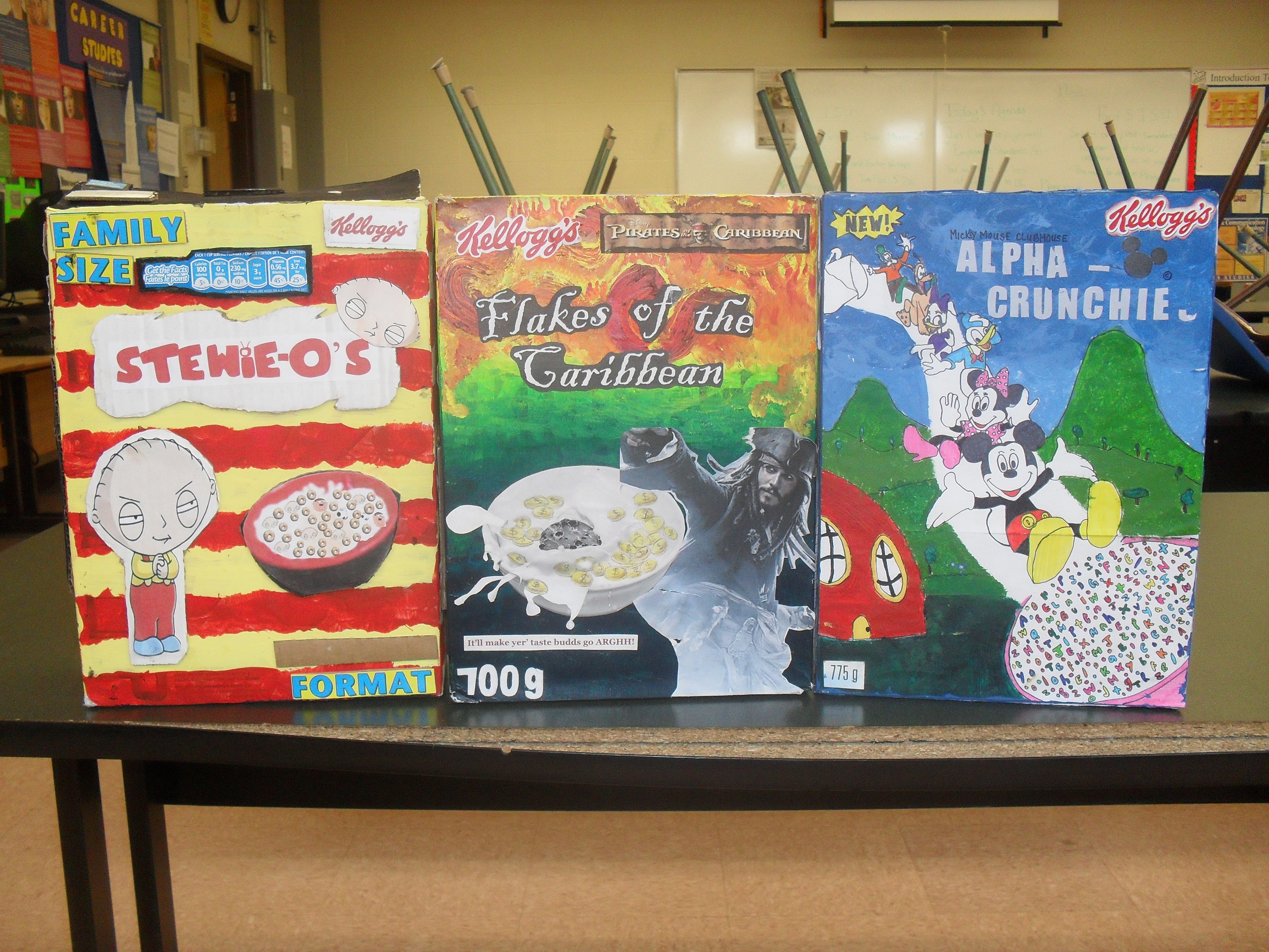 Toronto catholic district school board for Cereal box project for school