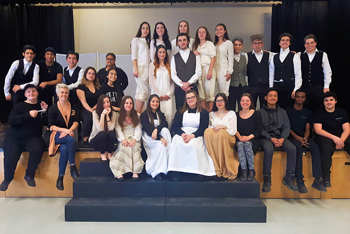 Group photo of Dante drama students