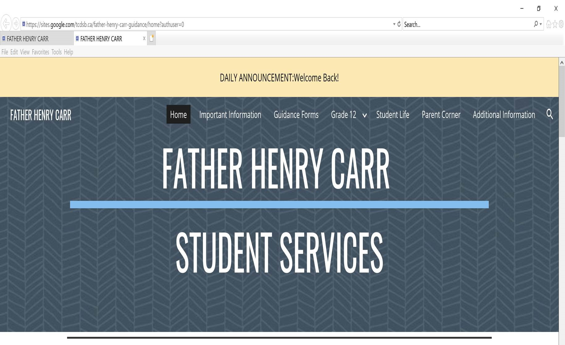 Father Henry Carr Student Services