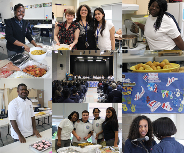 Multicultural Week lunch & mass collage