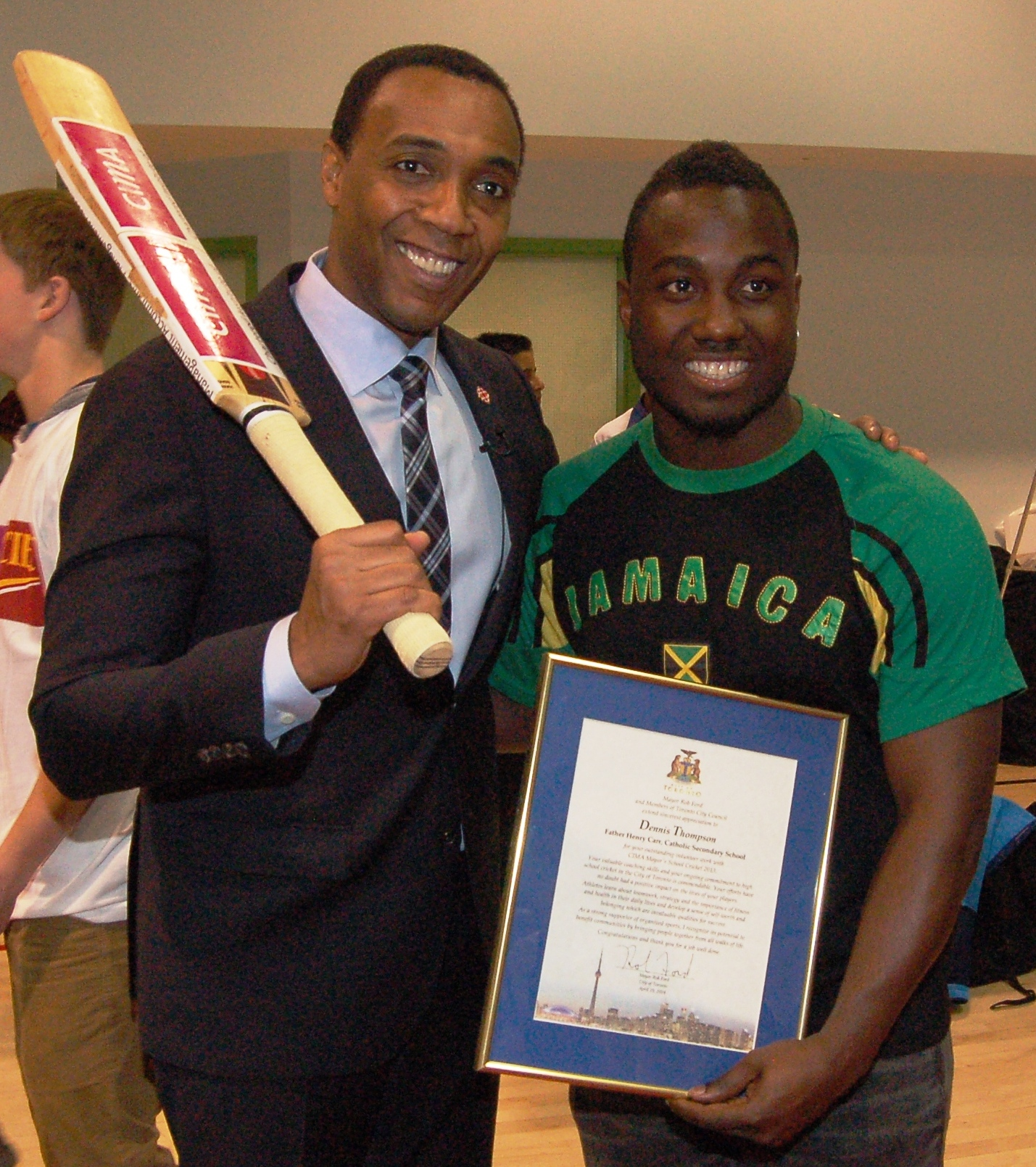 Carr student with dwight drummond.JPG