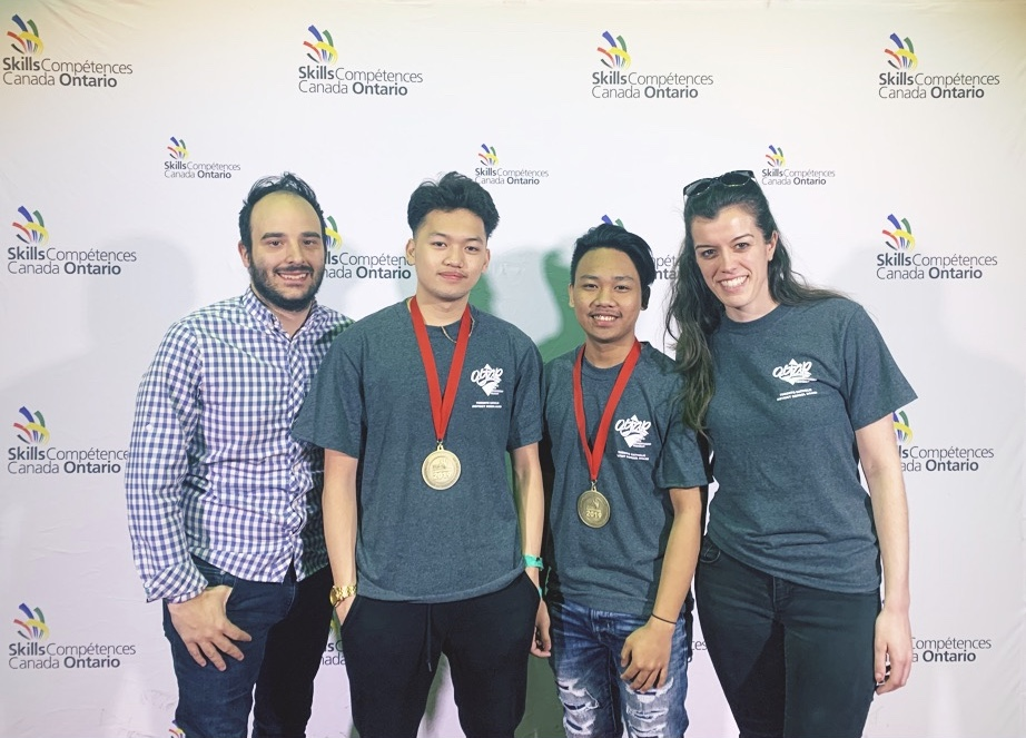 James Cardinal McGuigan students win Gold at Skills Ontario for TV/Video Production.