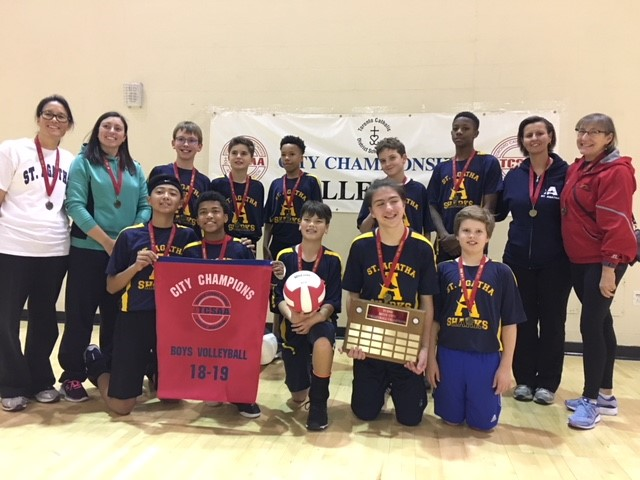 Boys City Champions Intermediate Volleyball