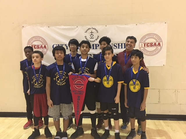 Boys City Intermediate Volleyball finalists