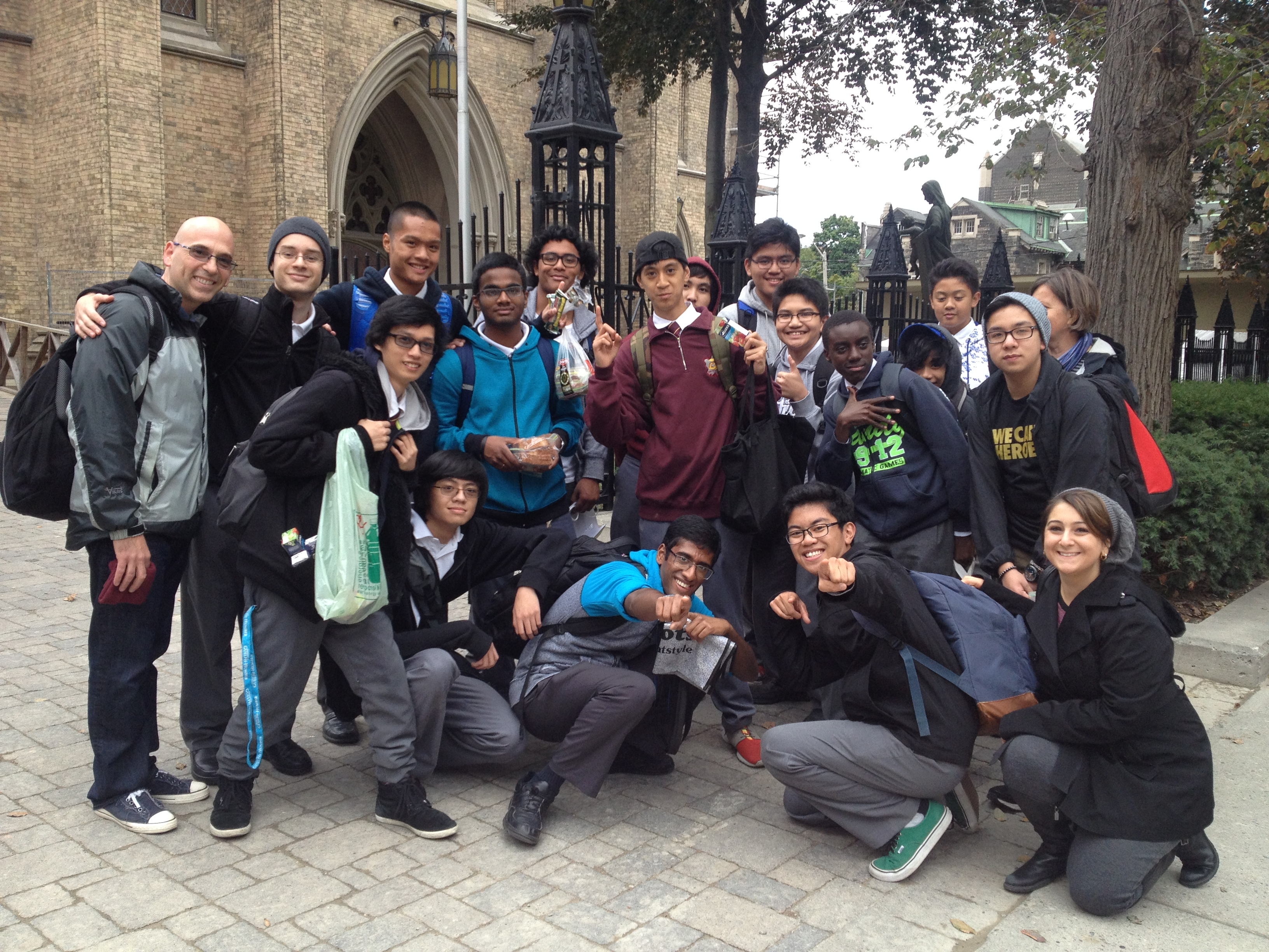 Oct 6th, St. Mike's Cathedral, street patrol.JPG