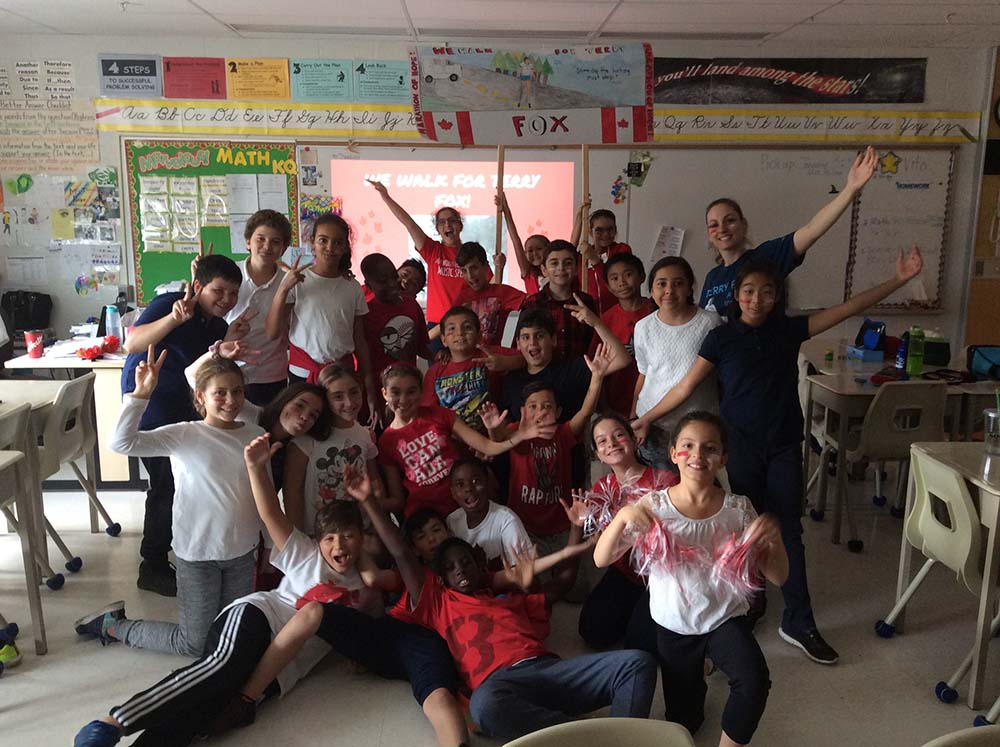 Ms. Iannozzi and her students