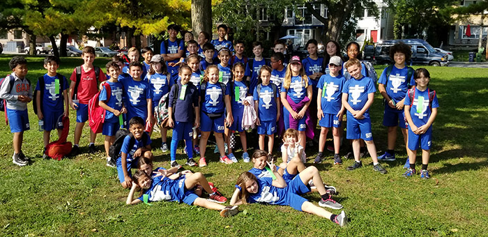 group photo of cross country team