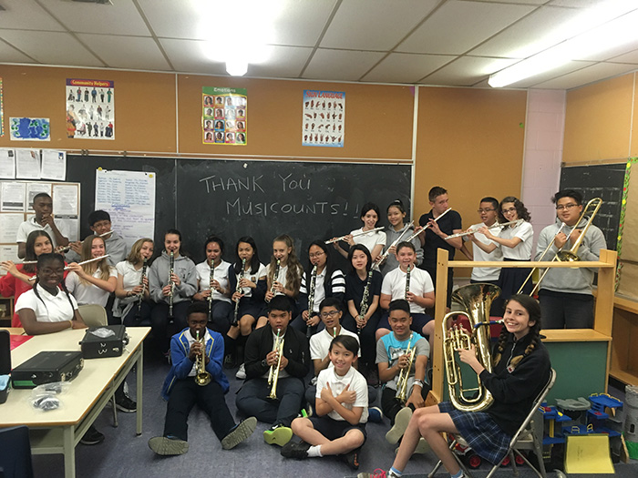 music students with instruments