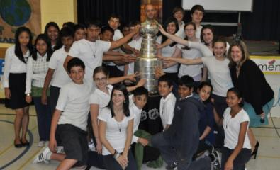 Students With Stanley Cup