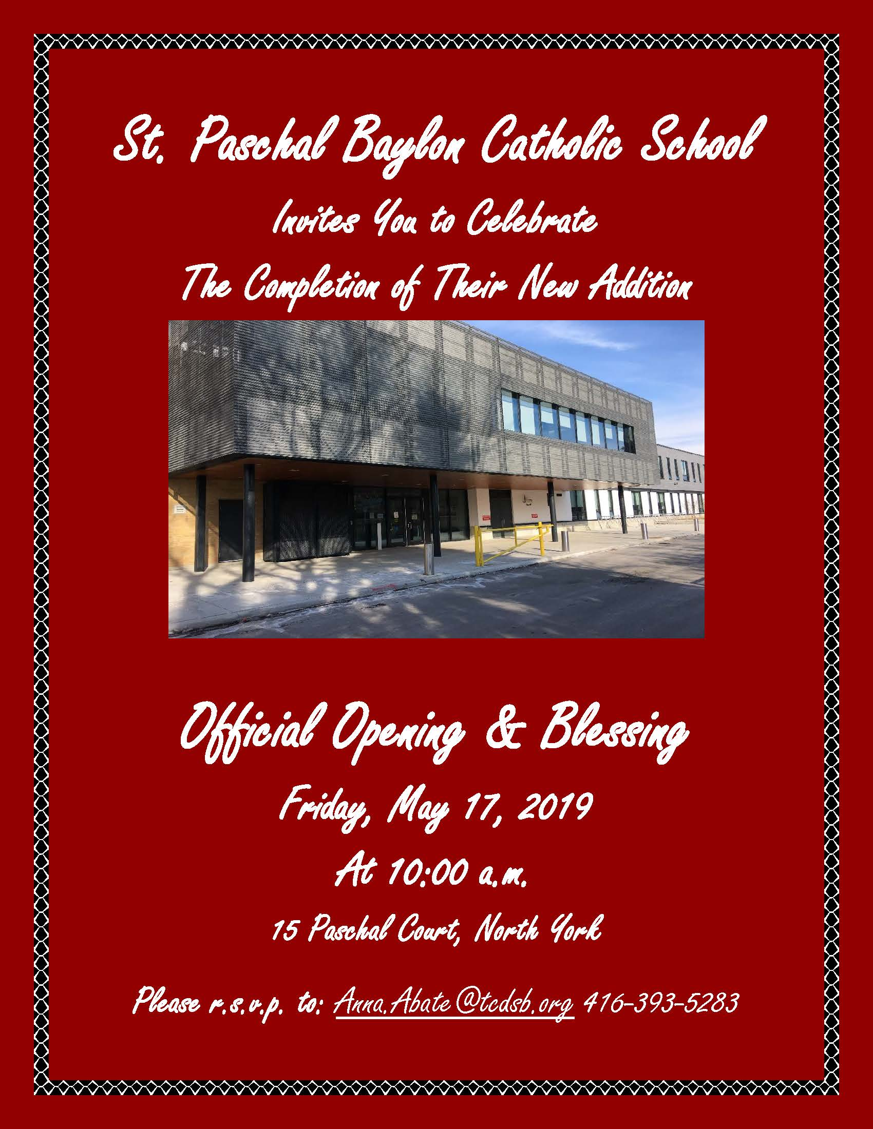 invitation to opening of addition at st paschal baylon january 2019 (2).jpg