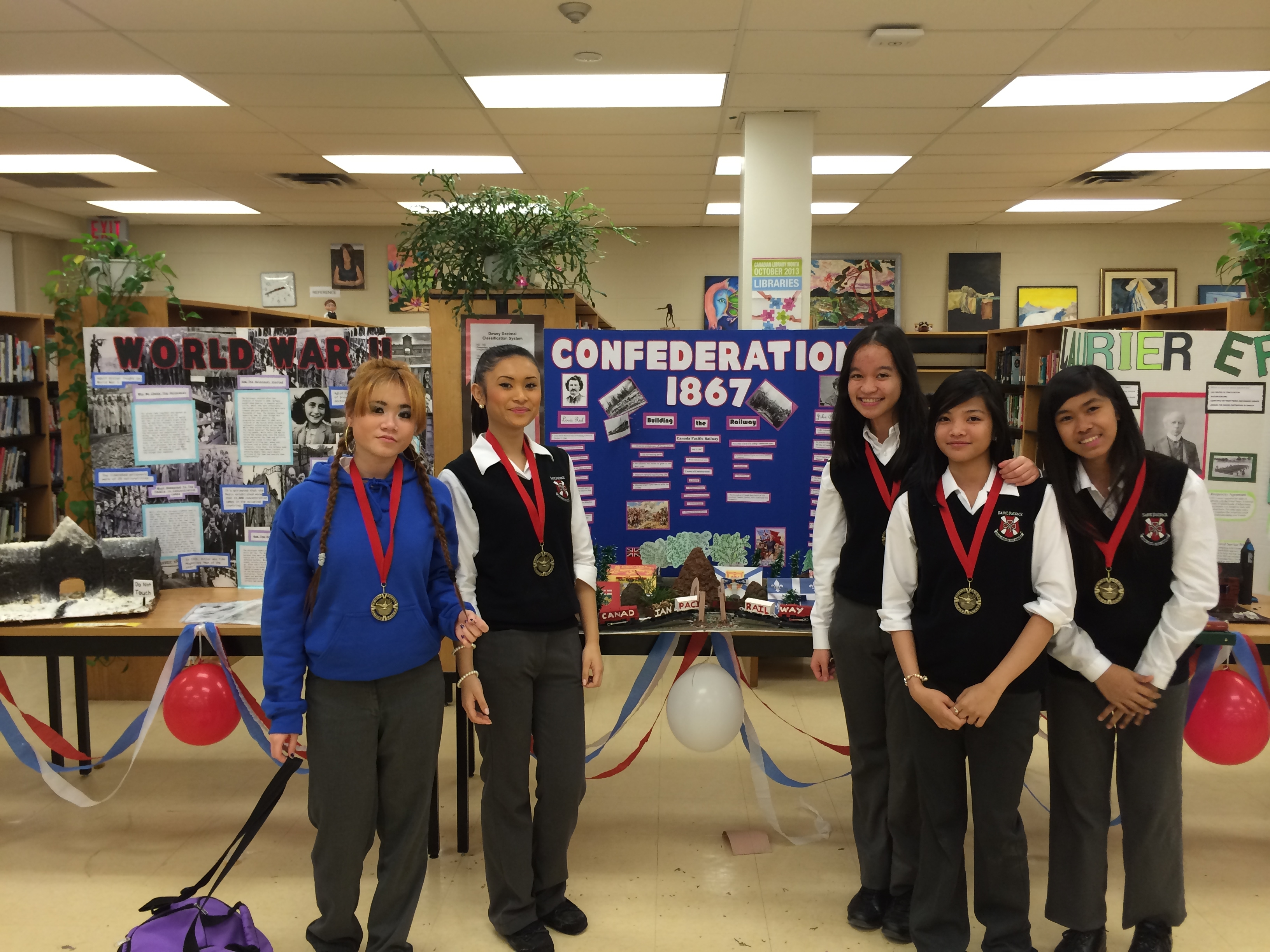 Winners of the History Fair