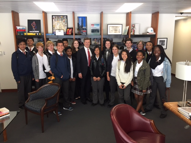Students visit Mayor Tory's City Hall Office