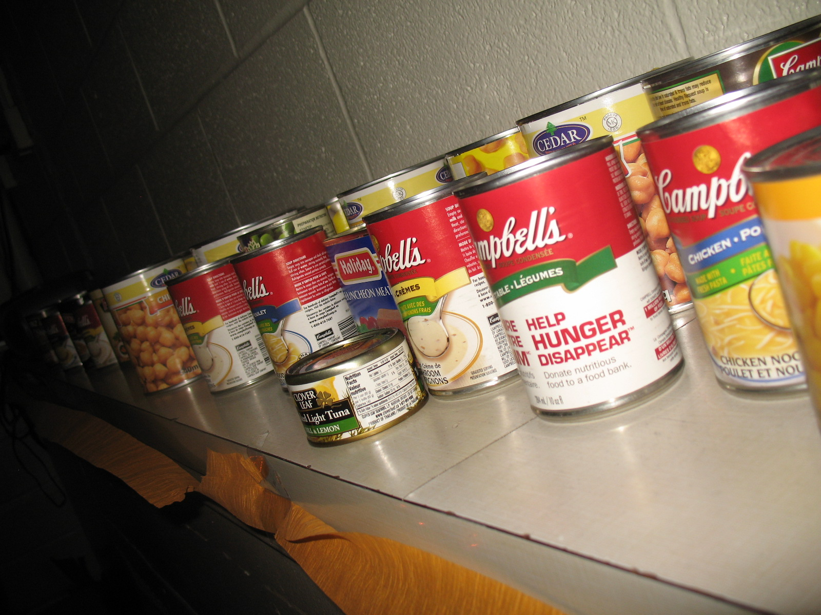 Food drive cans