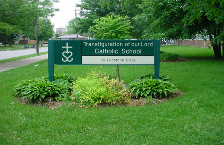 Transfiguration Outdoor Welcome Sign